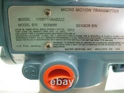 1/2 300# Micro Motion R050 Sensor 1700 I12 AB ASZZZ Transmitter NEW F2 (2476)