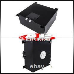 40L / 10gal Universal Racing Drifting Black Fuel Cell Gas Tank Sensor Polish Cap