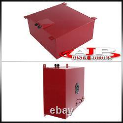 80L / 21gal Universal Racing Drifting Red Fuel Cell Gas Tank Sensor Black Cap
