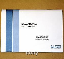 BURKERT SE35 8035 INLINE FLOW METER TRANSMITTER No 00423921 coil induction 9V