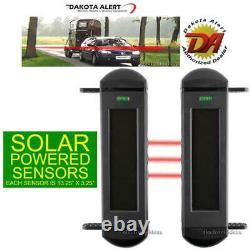 Dakota Alert Bbt-4000 Break Beam Driveway Alarm Add-on Wireless Solar Sensor New