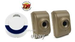 Dakota Alert DCMA-4000 2 Wireless Motion Sensor Driveway Security Alarm System