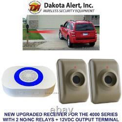 Dakota Alert Dcma-4000 Plus/dcma-4k+ Wireless Alarm+relays+12v Output 2 Sensors