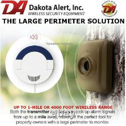 Dakota DCMA-4000 Wireless Motion Detector Driveway Alarm System with 3 Sensors