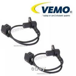 For BMW E31 E32 Pair Set of 2 Crankshaft Sensor Crank Shaft Sender Position Vemo
