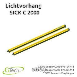 Lichtvorhang Lichtgitter Lichtschranke SICK C 2000 SET Sender + Empfänger kV
