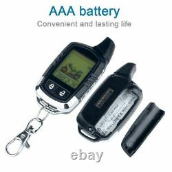 Motorcycle Alarm Microwave Sensor Anti-Theft Equipment With 2 LCD Transmitters