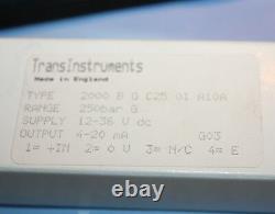 NEW Transinstruments Pressure Transducer Transmitter Type 2000 B G C25 01 A10A
