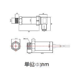 Pressure gauge absolute pressure sensor transmitter Modbus RS485 0 10V, 4-20mA