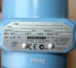 ROSEMOUNT 2088 G4A22A2M5B4T7 Pressure Transmitter 0-27597.2 kPa 4000 PSI NEW