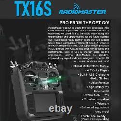 RadioMaster TX16S Hall Sensor Gimbal 2.4G 16CH Multi-protocol OpenTX Transmitter