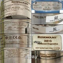 Rosemount 3051S1CD2A2B12A1ADA2B4E5 Differential Pressure Transmitter 4-20mA HART