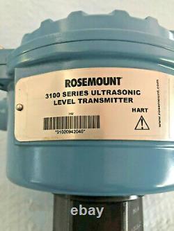 Rosemount 3100 Ultrasonic Level Transmitter C/W 2 Relay, 2 BSPP 12-40VDC 4-20mA