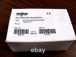 Trafag Sensor Controls ECT 8472 Industrial Pressure Transmitter